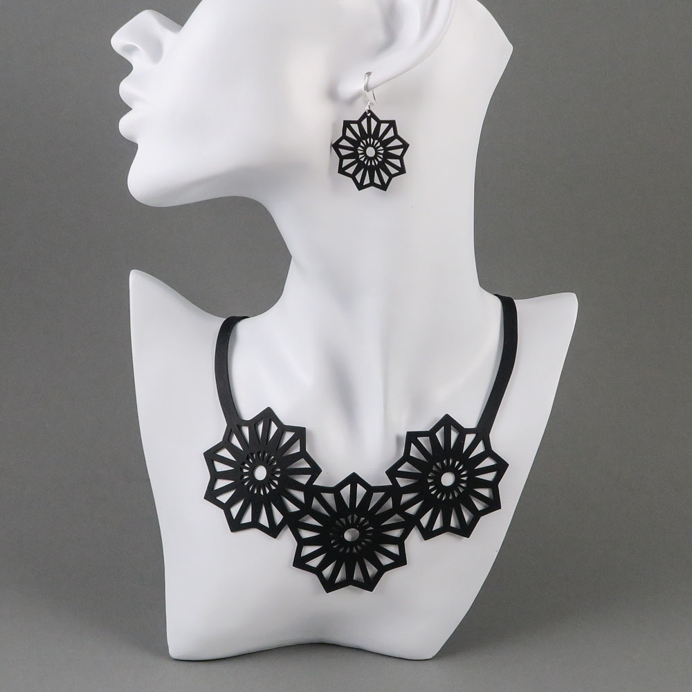 Aster necklace + earrings