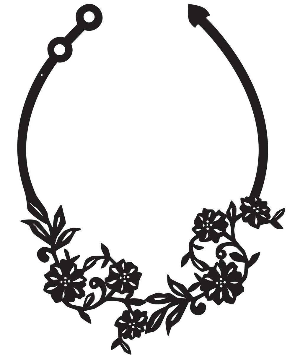 flowery necklace white silicone jewelry coruu design finland