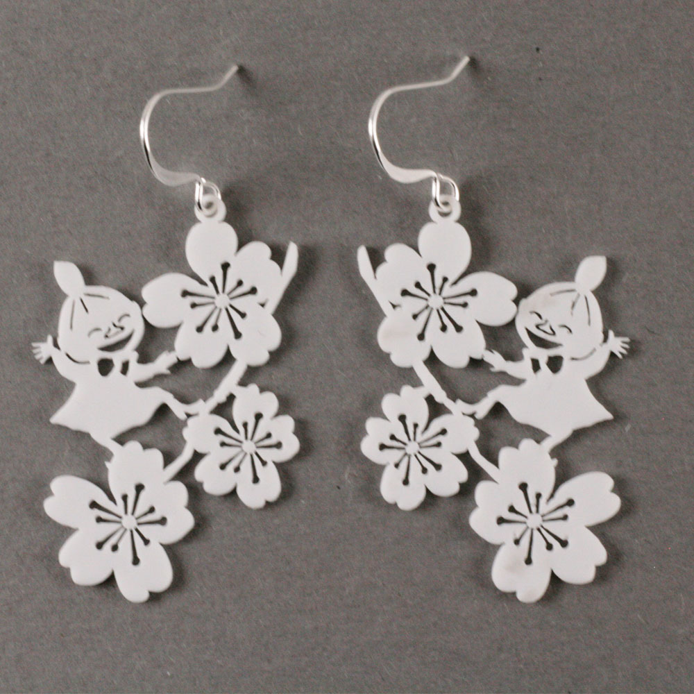 Little My And Apple Flower Earrings White Coruu Design Finland