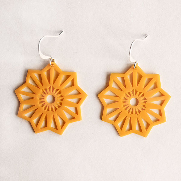 Aster XS Earrings - Curry