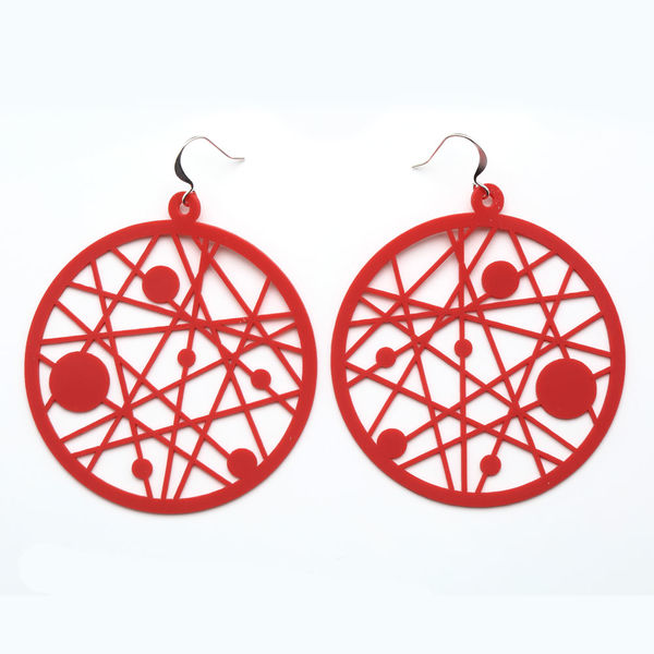Dreamcatcher Earrings Red Silicone Jewerly