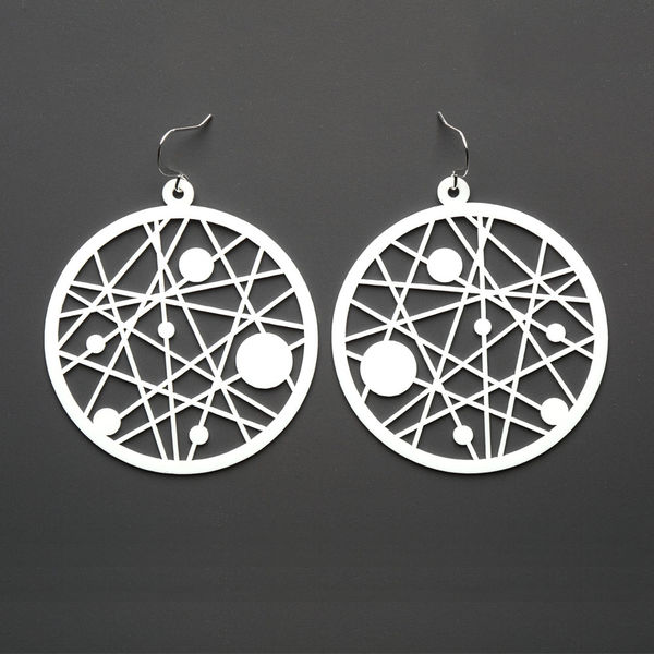Dreamcatcher Earrings White Silicone Jewelry