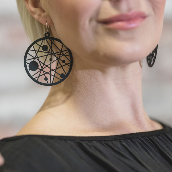 Dreamcatcher Earrings, black