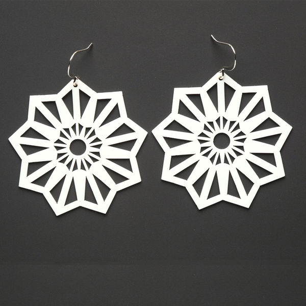 Aster Earrings White Silicone Jewelry