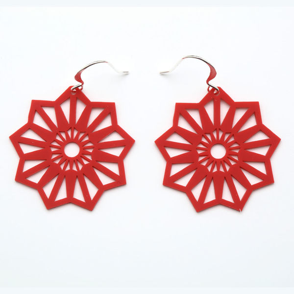 Aster XS Earrings Red